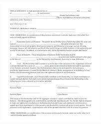 Sample Partnership Agreement Form Download – Hardimplosion