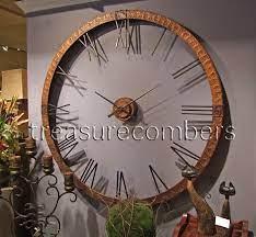 xl 5 foot hammered copper wall clock