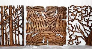 image 5 of 14 click image to enlarge on natural wood art wall decor with tree life art wall decor carved natural wood pane kan thai home