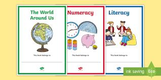 northern ireland subject editable book covers curriculum ni organisation labels folders