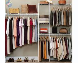 Mount Closet Organizer Kit Wardrobe Shelves Hanger Rack Clothes As Well As  Gorgeous Wardrobe Hangers Storage
