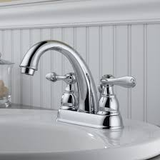 Bathroom Faucet Delta Windemere Centerset Bathroom Faucet With Metal Pop Up Drain