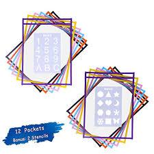 Reusable Dry Erase Sleeve 12 Pack Alphabet Shape Stencil 2