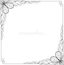 vintage frame border. Download Decorative Vintage Frames And Borders Set,photo Frame With Corner Line Stock Illustration - Border