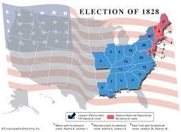 John Quincy Adams Presidency Chart United States Presidential Election Of 1828 United States