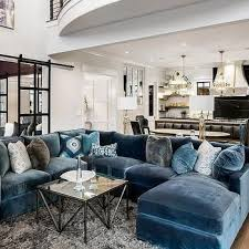 blue velvet sectional.  Sectional Blue Velvet Sectional With Chaise Lounge And I