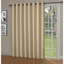 Patio Door Curtain Bella Luna Blackout Maya Woven Blackout 108 In W X 84 In L