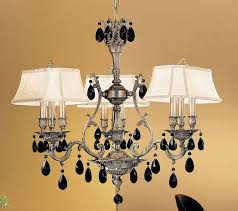 majestic 9 light crystal chandelier in aged pewter with swarovski spectra crystal