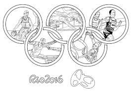 Coloriage Sur Les Jeux Olympiques Coloriages Pour Enfants