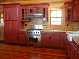 33 stylist design barn red kitchen cabinets home ideas staining cute rustic painted antique cabinet pictures
