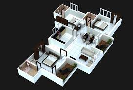 two story house plans 3d 2 story 3 bedroom house 3d floor plans exquisite ideas modern apartment designs
