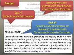 necessary to write an essay ppt  prompt task b task b essay newspaper article
