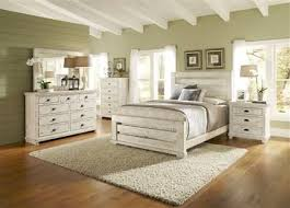 white bedroom furniture king. White Bedroom Furniture Willow Casual Distressed Wood Set W/ King Slat Bed Bedrooms