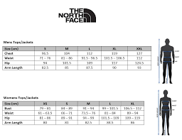 The North Face Size Chart Cm The North Face Denali Jacket Sizing Instructions