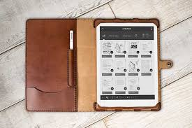 custom leather remarkable tablet case by hand and hide