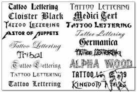 Výběr Tetování Nápisů Vyberte Si Písmo Pro Tetování V Latinském