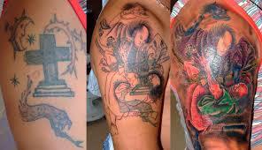 перекрытие старой татуировки кавер ап тату фото и примеры