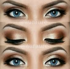 this is a subtle neutral smokey eye done right and it s perfect for blue eyes