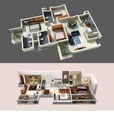 Floor Plan Design of 2BHK & 3BHK | 3D Design Work in 2018 ...