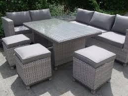 corner dining furniture. all weather stunning grey rattan corner sofa set with dining table and seating brand new exclusive furniture