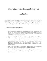 Cover Letter Example Resume Resume Examples Cover Letter Cover