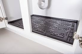 xtreme mats under sink mat drip tray liner 36 black in home kitchen