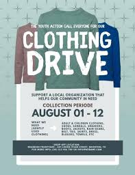 Shoe Drive Flyer Template Clothing Flyer Template