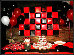 Homemade Parties Rafas And Carlos Birthday Party Red And Black
