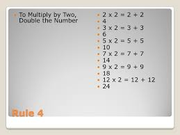 Eight Simple Rules for Memorizing Multiplication Tables Your task ...