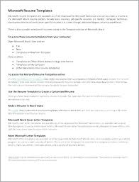 Microsoft Resume Templates Free Download Resume Templates Microsoft Word