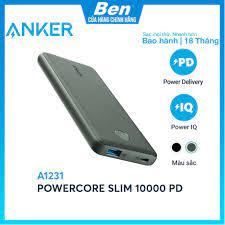 Pin sạc dự phòng ANKER PowerCore Slim 10000mAh PD - A1231 - Pin Sạc Dự Phòng  Di Động