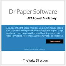 Ms Word Apa Format Amazon Com Dr Paper Software Apa Format Made Easy Windows