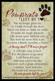 Loss Of Pet Quotes New Pet Loss Poem Pawprints Left By You The Orange Slice Best Quotes