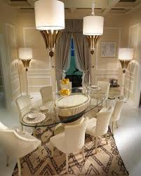 stunning brown dining room rug decoration under oval glass table feat white dining chair as well