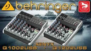 <b>BEHRINGER XENYX</b> Q1002USB , Q1202USB - микшеры серии ...