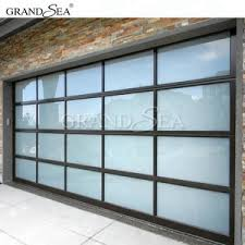 Image Replacement Panels Alibaba Aluminum Alloy Material Frosted Glass Modern New Black Sectional Panel Garage Door