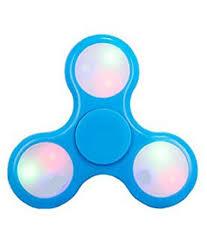 Fidget Spinner Light Blue Led Led Light Blue Color Fidget Spinner