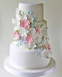 3 Tier Wedding Cake With Multi Color Flowers Sri Lanka Online