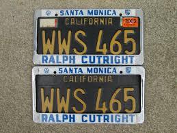 ralph cutright santa monica california dealership license plate frames