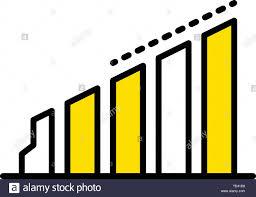Column Chart Icon Outline Style Stock Vector Art