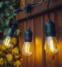 hyperikon led outdoor string patio lights bamboo string lights