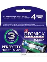 Сменные <b>кассеты</b> для бритья 3 лезвия, 4 шт (<b>Deonica FOR MEN</b>)