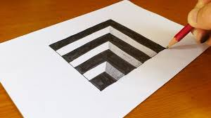 how to draw 3d hole for kids anamorphic illusion 3d trick art on paper you