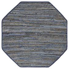 blue jeans 4 ft x 4 ft octagon area rug