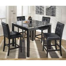 ashley furniture maysville 5 piece square counter table set in black