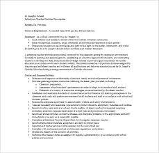 Substitute Teacher Job Description For Resume Free Resume