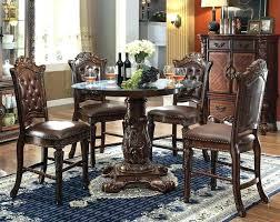 counter height pedestal dining table elegant glass top pedestal dining table impressive 5 piece inch round counter height