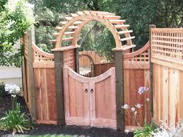 Fence Gate Arbor Designs Round Arbor With Walk Gate By Pergola Garden Outdoor