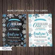 Snowflake Birthday Invitations Amazon Com Winter Birthday Invitation Boy Winter Onederland