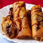 banana chocolate spring rolls